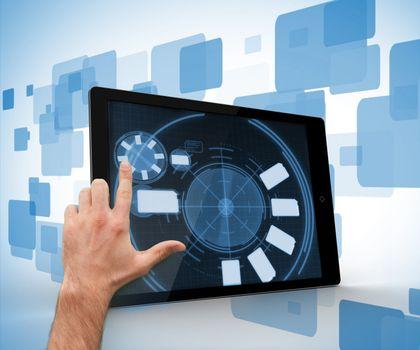 Finger scrolling on a digital tablet