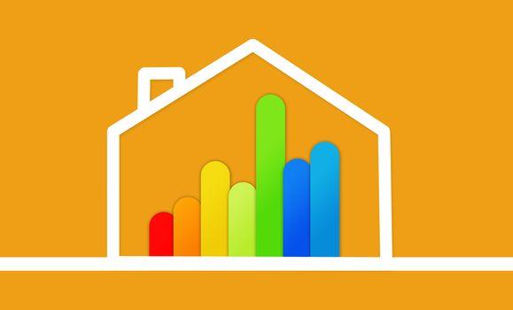 Energy efficient house graphic