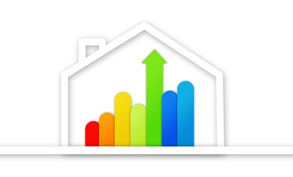 Graphical presentation of energy efficient house