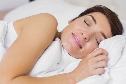 Content woman asleep