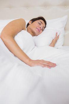 Peaceful woman asleep