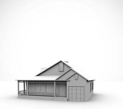 House against a white background