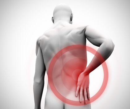 Digital figure with back pain