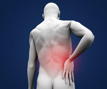 Digital figure having pain