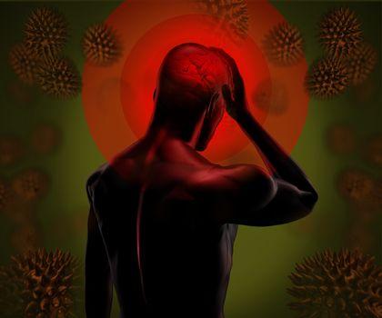 Digital figure with headache