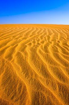 Detail of structured desert sand dune