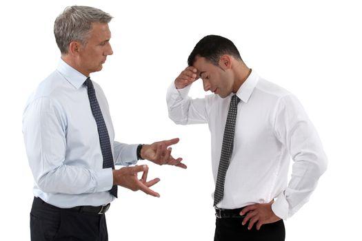Businessmen quarreling