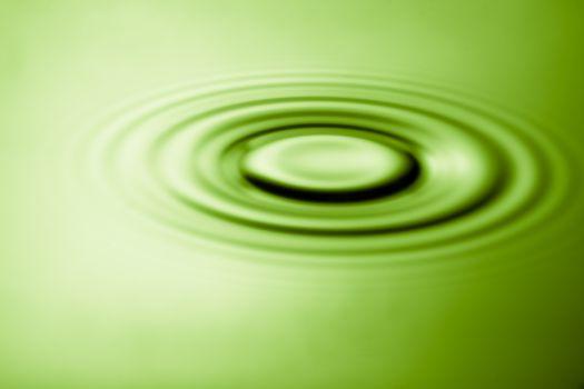 Ripple effect in water