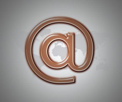 Bronze email at symbol