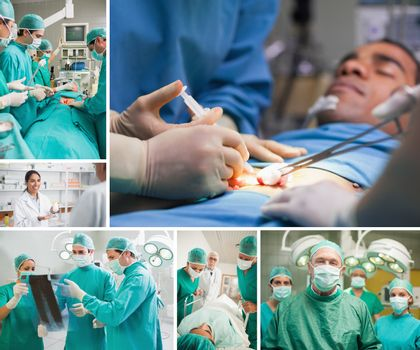 Montage of a sugery