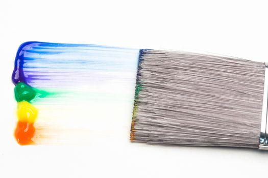 Paintbrush with rainbow brush stroke
