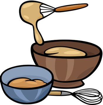 dough knead clip art illustration