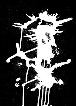 White ink splash