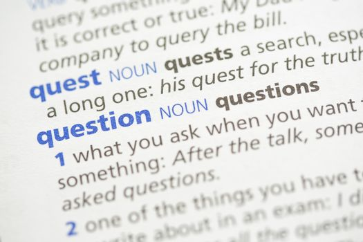 Quest and question definition