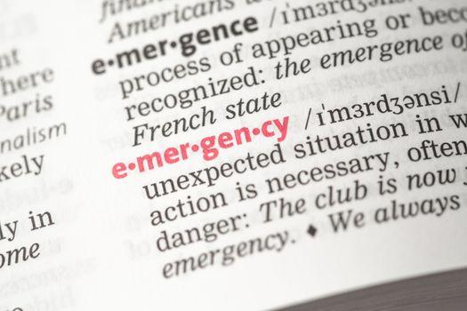 Emergency definition