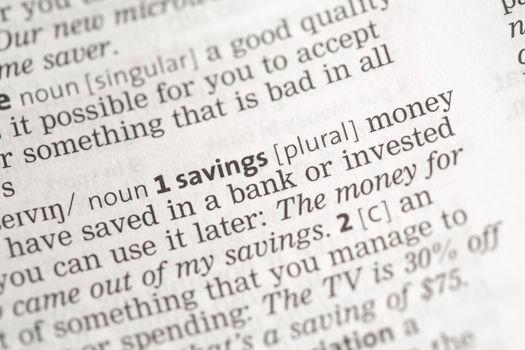 Savings money definition