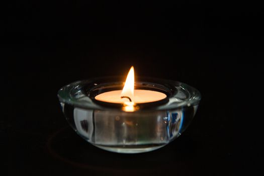 Candle in a glass holder