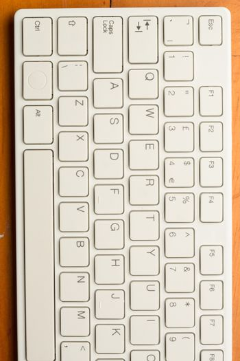 Left part of a keyboard