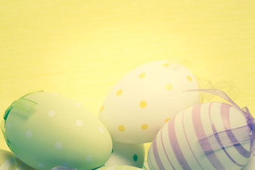 Striped and spotted easter eggs