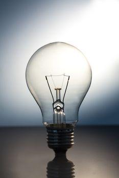 Big bright light bulb standing