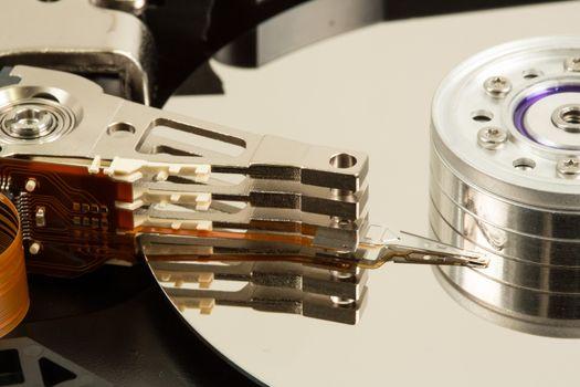 Close up of hard disk drive