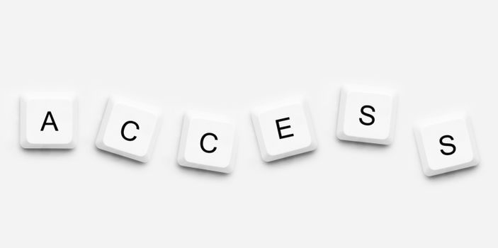 Buttons spelling out access