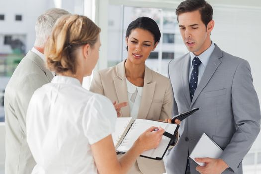 Business people making an appointment