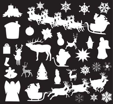 vector Christmas elements