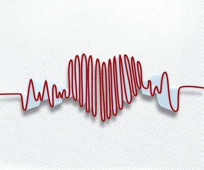 Heart rate waveform