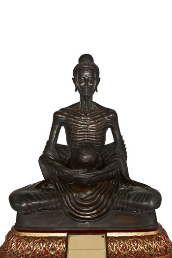 buddha image in the gesture of undergoing austerity