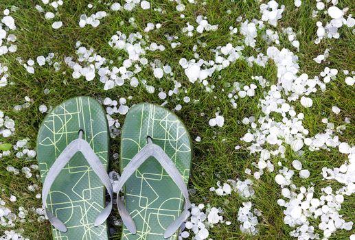 Flip-flops after hailstorm
