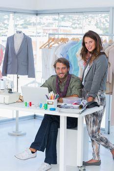 Fashion designers brainstorming