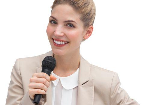 Businesswoman public speaking