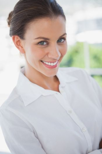 Beautiful businesswoman in the workplace