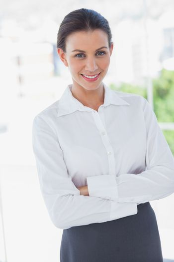 Businesswoman standing in the workplace