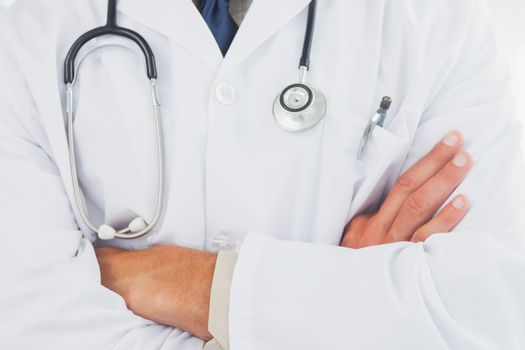 Doctor wearing lab coat