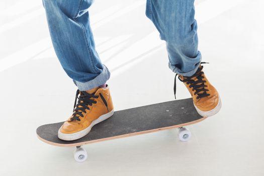 Man having fun on his skateboard