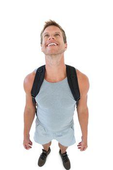 Smiling man in sportswear