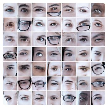 Collage of pictures with eyes