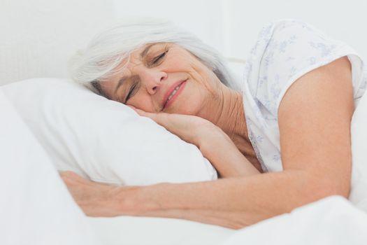 Peaceful woman sleeping