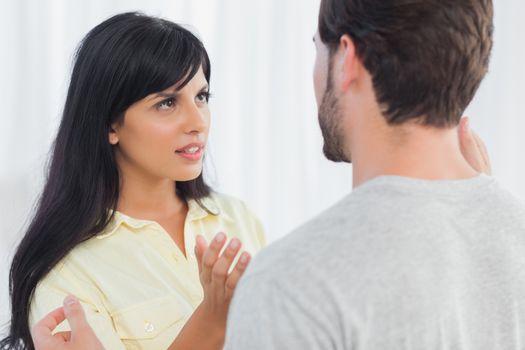 Woman and her boyfriend having dispute