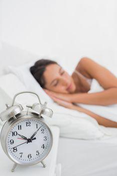 Peaceful woman sleeping in