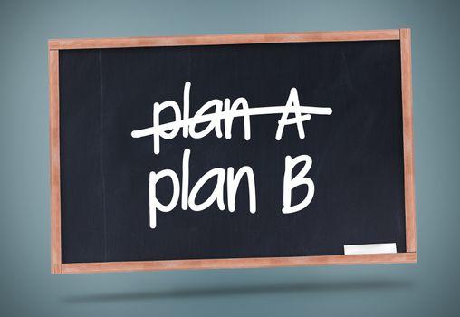 Plan A and Plan B written on a blackboard