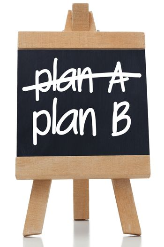 Plan A and Plan B written on chalkboard