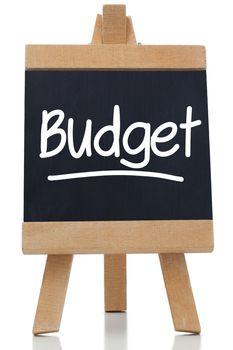 Budget written on blackboard