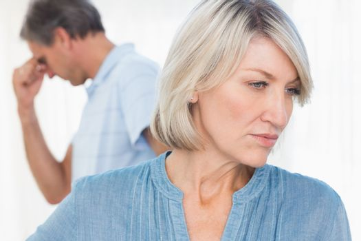 Couple feeling distant after fight