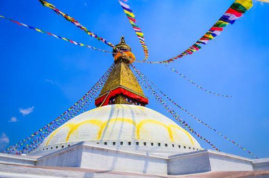 Bouddhanath stupa during the day in Kathmandu, Nepal