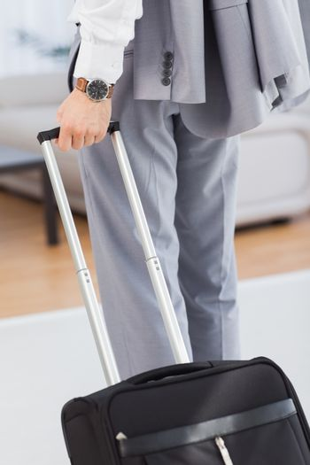 Businessman with his baggage