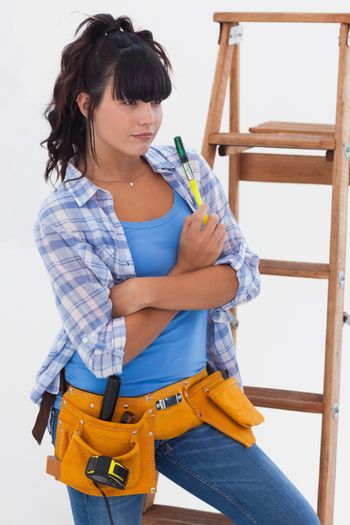 Woman ready for home improvement