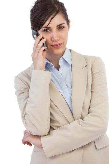 Self assured businesswoman on the phone